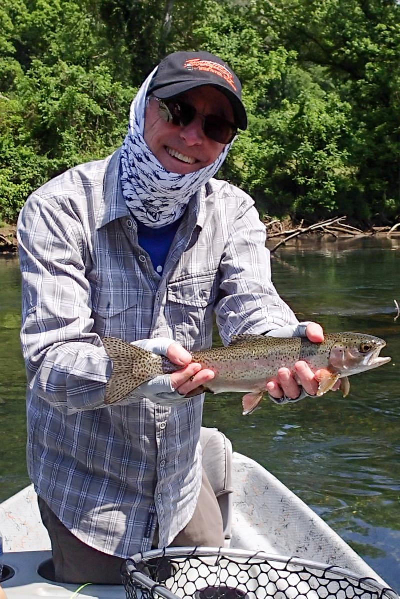 Trophy rainbow trout of the tennessee tailwaters