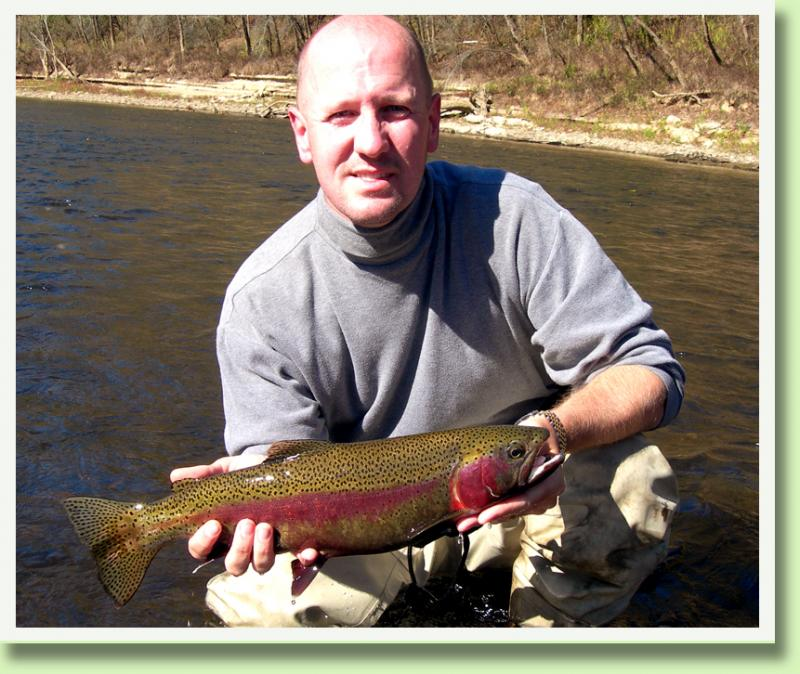 Cumberland River Rainbow with Kentucky Fly Fising Guide Rocky Cox