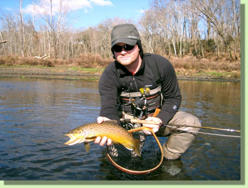 Caney FOrk Brown Trout Fly FIshing Guides Knoxville Tennessee