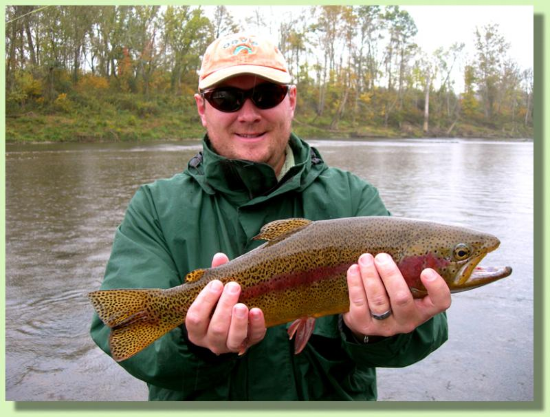Trophy Rainbow Trout Caught with Cumberland River Guide Rocky Cox