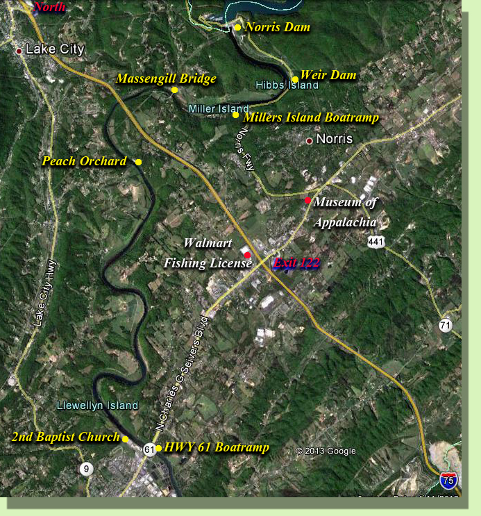 Clinch RIver FLy FIshing Map GUide