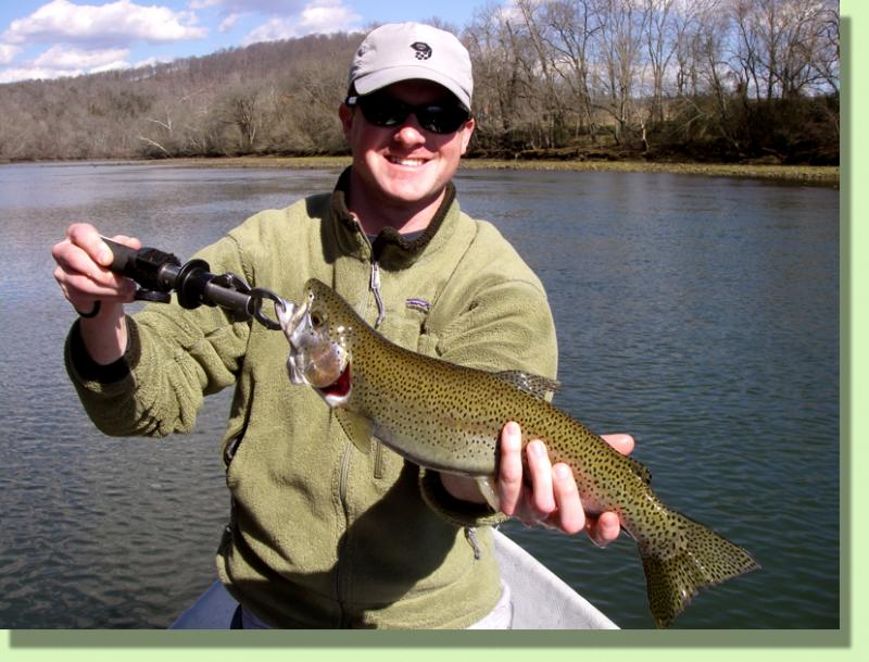 Holston RIver Rainbow Trout Fly Fishing Guide Rocky Cox Knoxville
