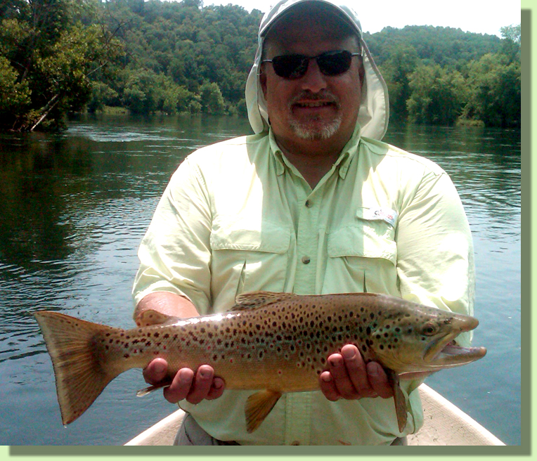 Trophy Clinch River Brown Trout Knoxville Tennessee Fly Fishing Guide Rocky