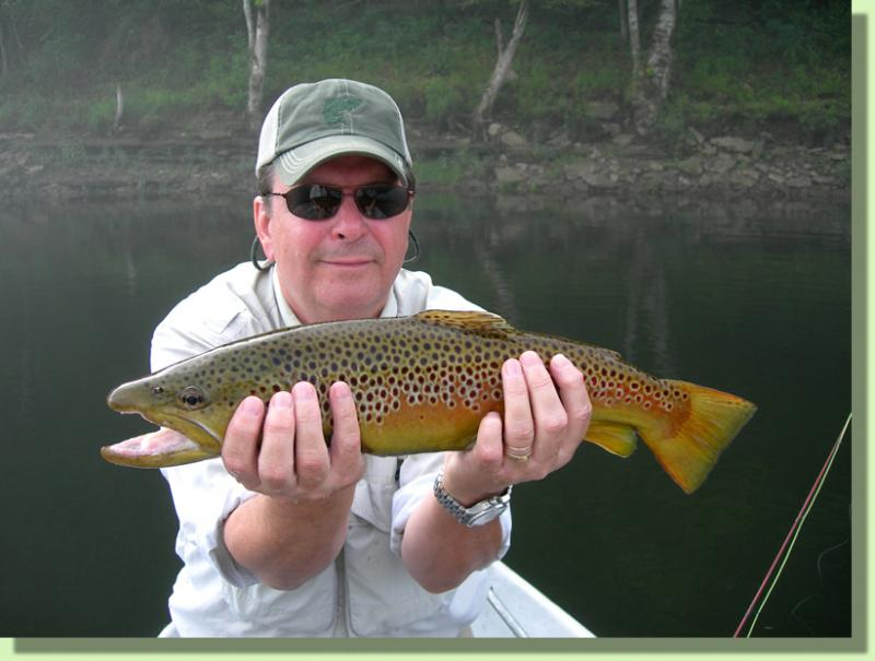 Trophy Brown Trout Fly Fishing GUide Knoxville Tennessee Rocky Cox