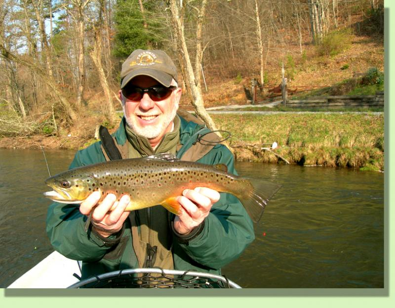 Trophy TOccoa River Brown Trout with Rocky Cox Fly Fishing guide