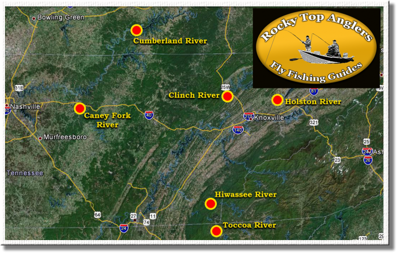 Fly Fishing Destinations in Tennessee and surrounding states,