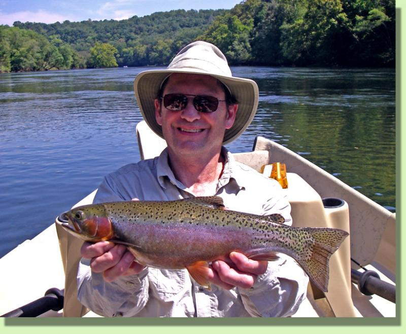Trophy Clinch River Rainbow Trout FLy Fishing guide Rocky Cox Knoxville