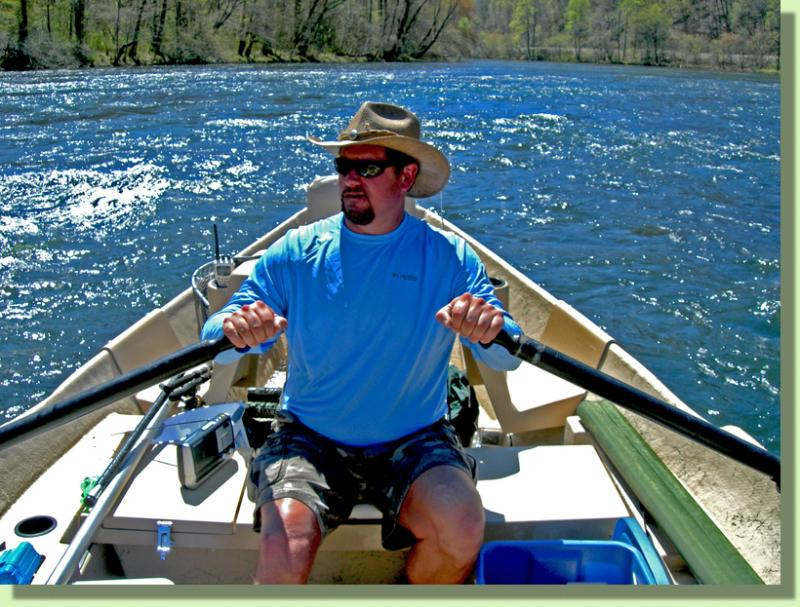 Knoxville based fly fishing guide Rocky Cox of Rocky Top Anglers