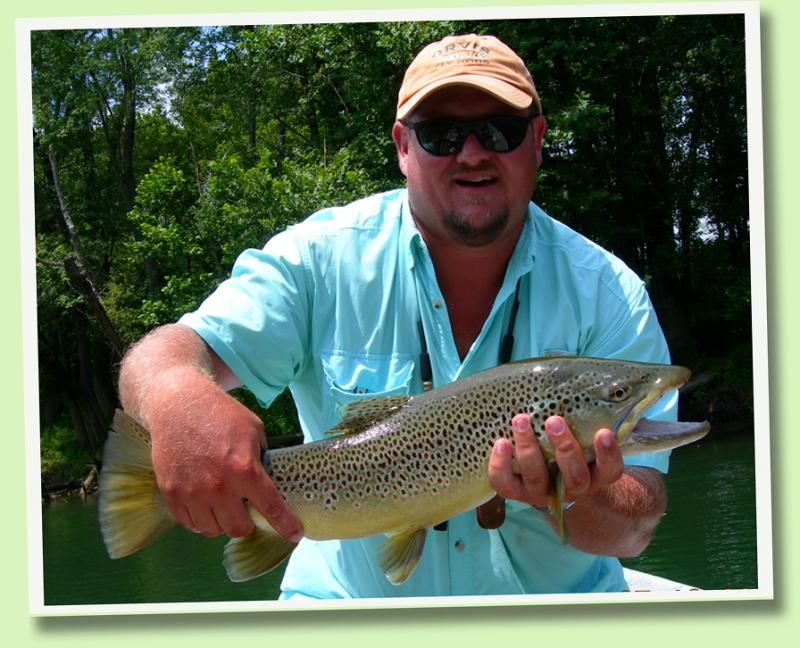 Trophy Brown Trout With Tennessee Guide Rocky Cox