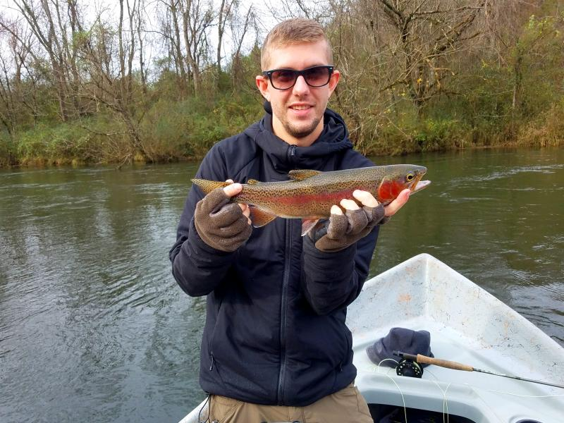 Trophy class fly fishing for trout in Tennessee on driftboats