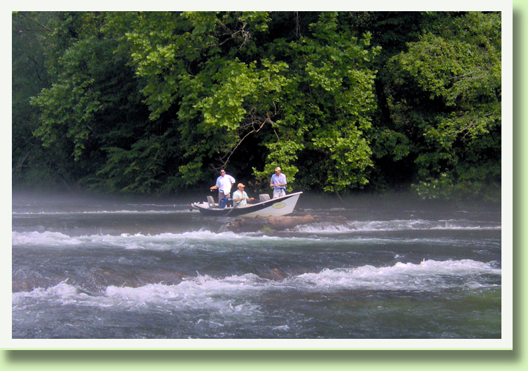 Tennessee Drift Boat Guides Rocky Top Anglers near Knoxville