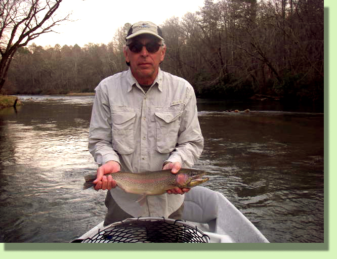 Trophy Toccoa River Rainbow Trout Guide Rocky Cox Blue RIdge