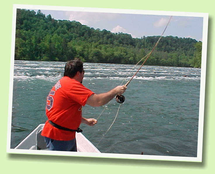 Hiwasssee River Guided Fly Fishing Drift Boat Trip Rocky Top Anglers